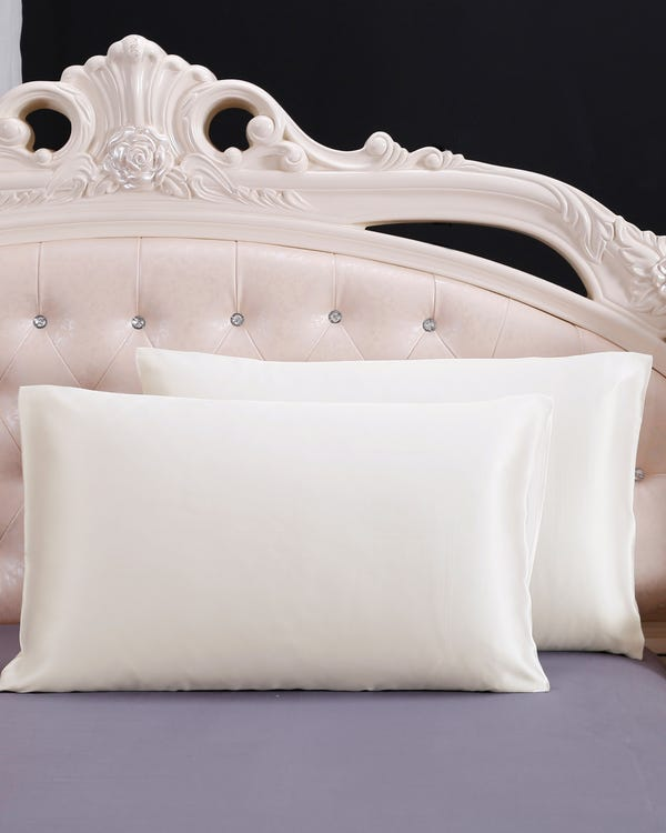 25 Momme Housewife Luxury Pillowcase Ivory 30x40cm-hover