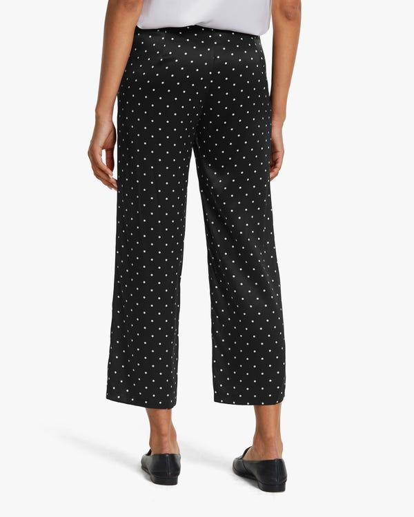 Polka Dots Print Silk Pants-hover