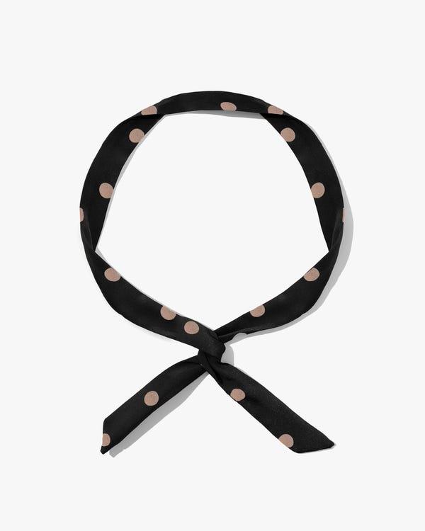 Polka Dot Bunny Ear Silk Headband-hover