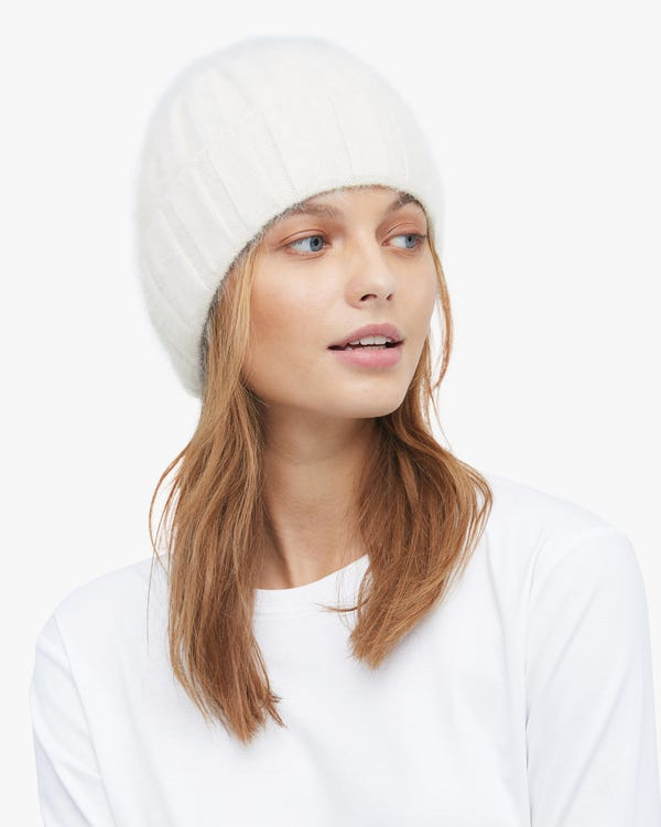 Rabbit Fur Warm Knitted Hat-hover