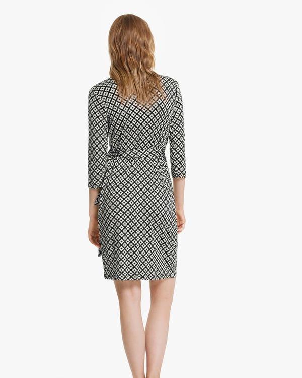 Pattern Print Silk-Knit Dress-hover