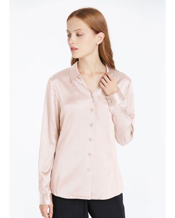 Braderie V Neck Work Wear Silk Blouse XXL-hover