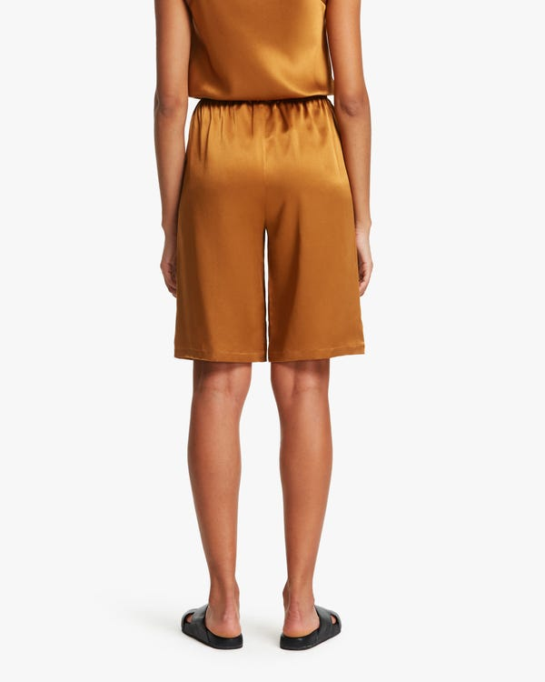 Relaxed Silk Shorts For Summer-hover