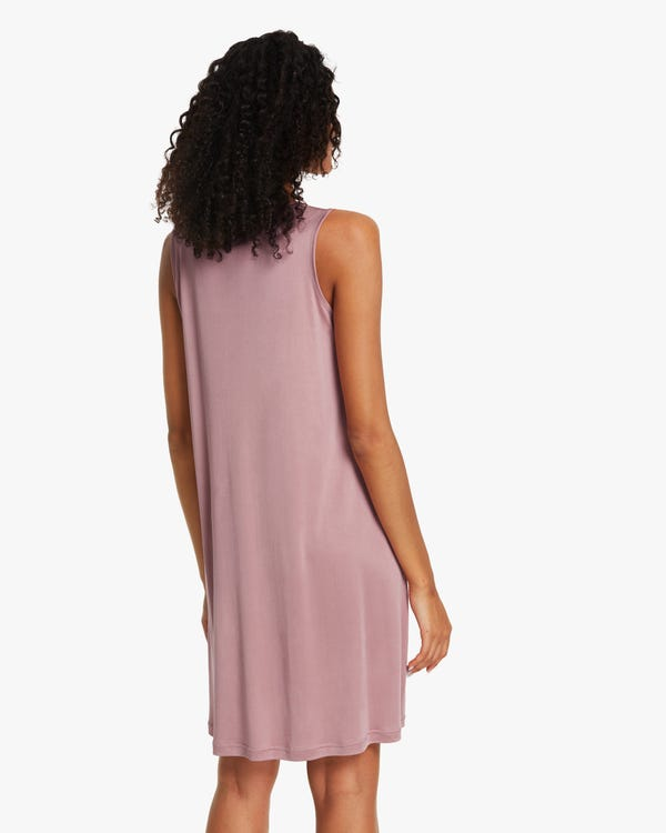 Tank Top Silk-Knit Sleep Dress-hover