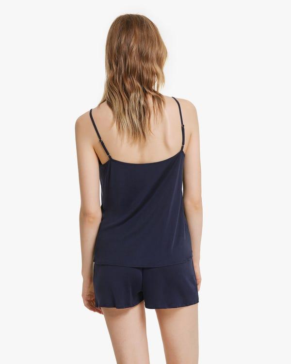 Bequemes Pyjama Set aus Seidenstrick-hover