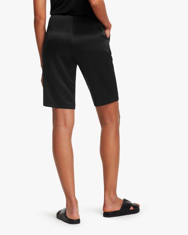 Pantalones de Seda de Traje Cortos para Mujeres-hover
