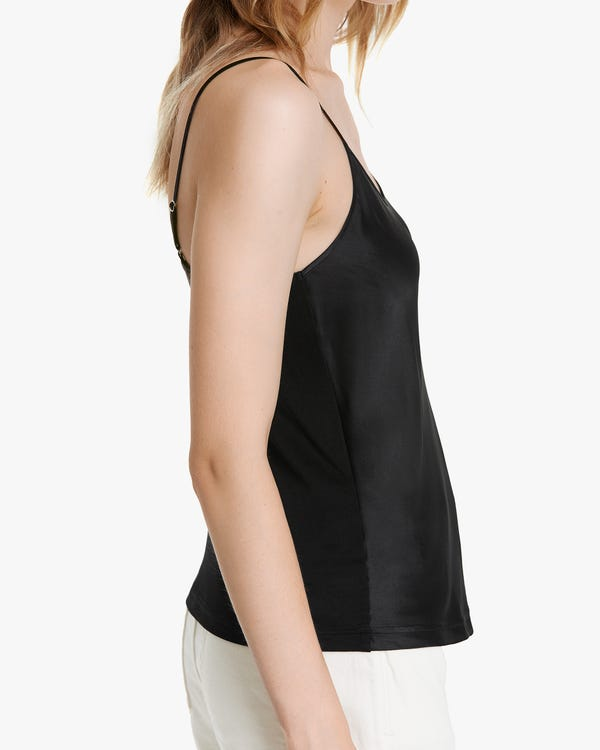 Clean Cut Tuck-In Silk Camisole-hover