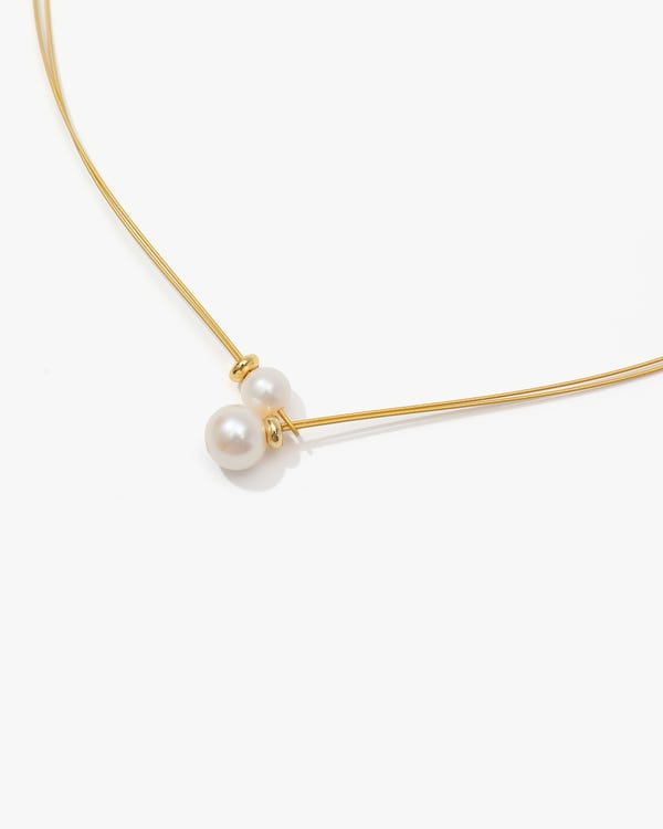 Chic Pearl Necklace For Women none One Size