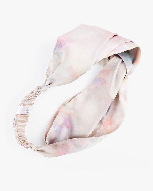 Watercolor Print Silk Headband
