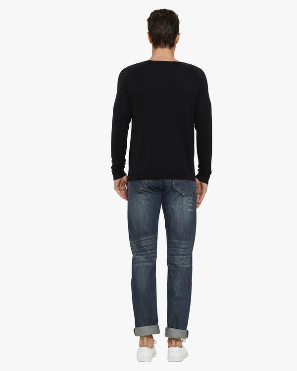 Pullover aus Seide Kaschmir Mischung für Herren Black L-hover