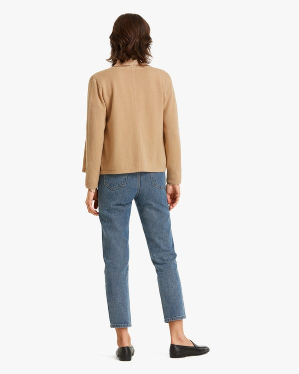 Classic Simple Cashmere Cardigan Sweater-hover