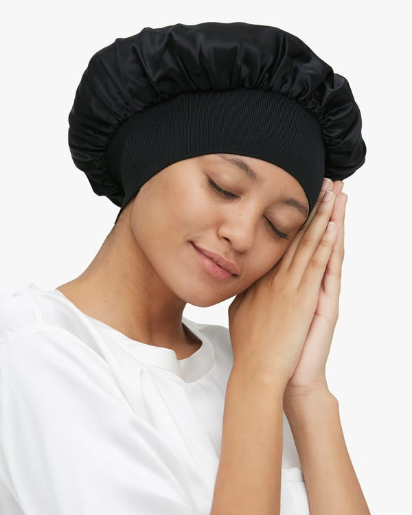 Traceless Elastic Band Silk Sleep Cap-hover
