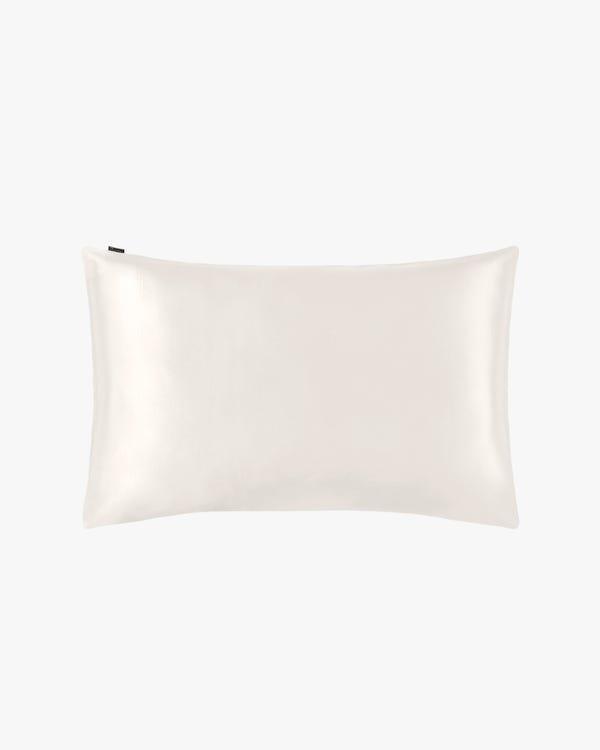 19 Momme Silk Pillowcase With Cotton Underside And Hidden Zipper Ivory 51x66cm