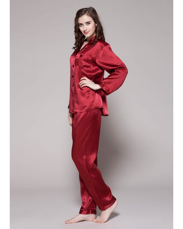 22 Momme Full Length Silk Pajamas Set-hover