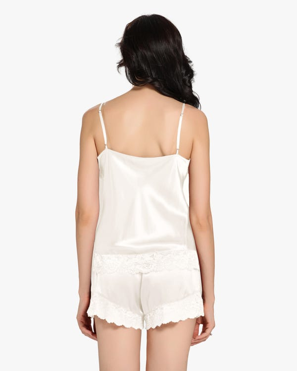 22 Momme Lace Silk Camisole Set-hover