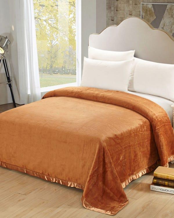 Silk Blanket Orange Full-hover