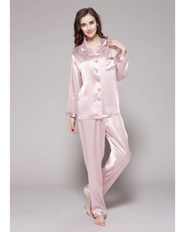 22 Momme Full Length Silk Pajamas Set