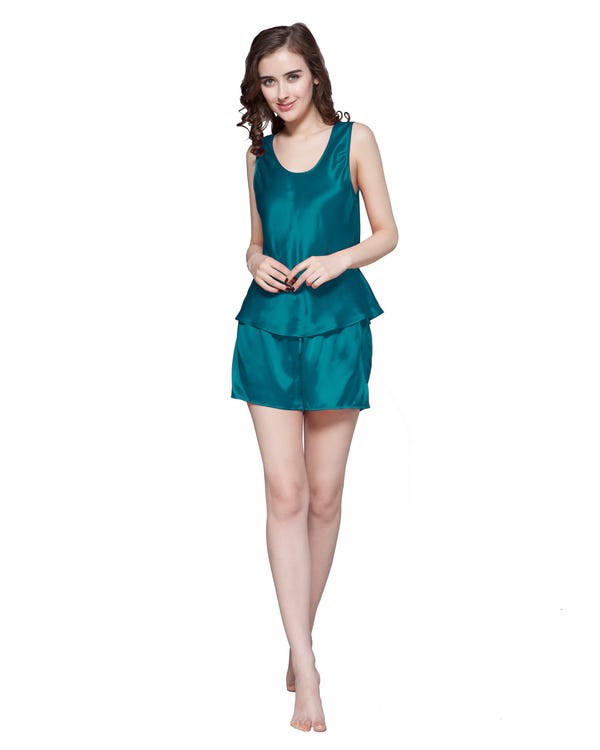 22 Momme Free Scoop Silk Camisole Set-hover