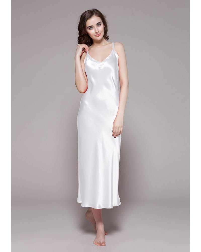 22 Momme Long & Close Fitting Silk Nightgown