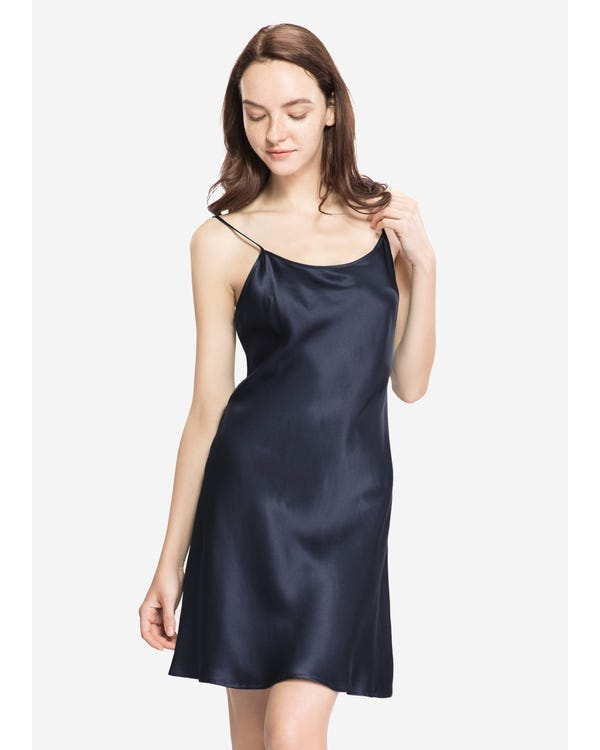 22 Momme Camisón de Seda Corto de Mujer