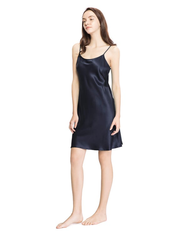 22 Momme Camisón de Seda Corto de Mujer-hover