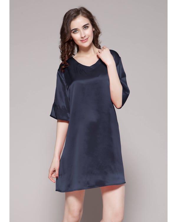 22 Momme Wide V neck Silk Nightdress