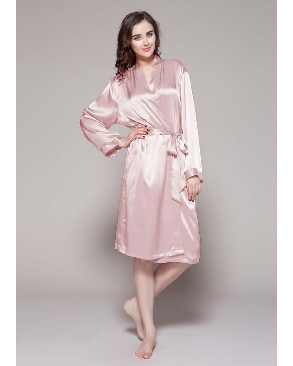 22 Momme Classic Mid Silk Robe-hover