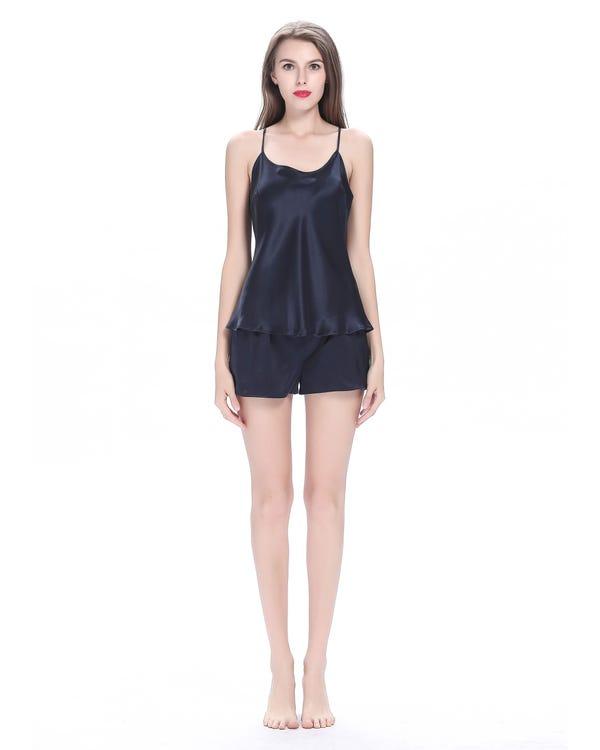 22 Momme Elegant Short Silk Camisole Set-hover
