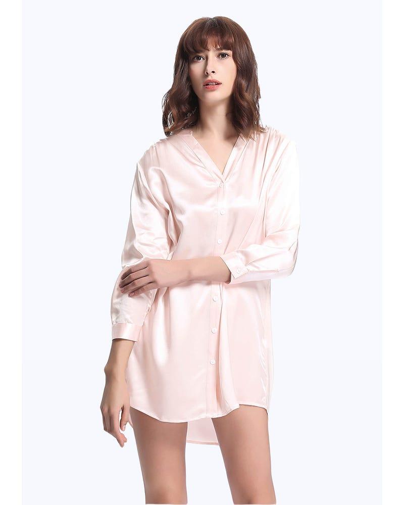 22 Momme Elegant Women Silk Nightshirt