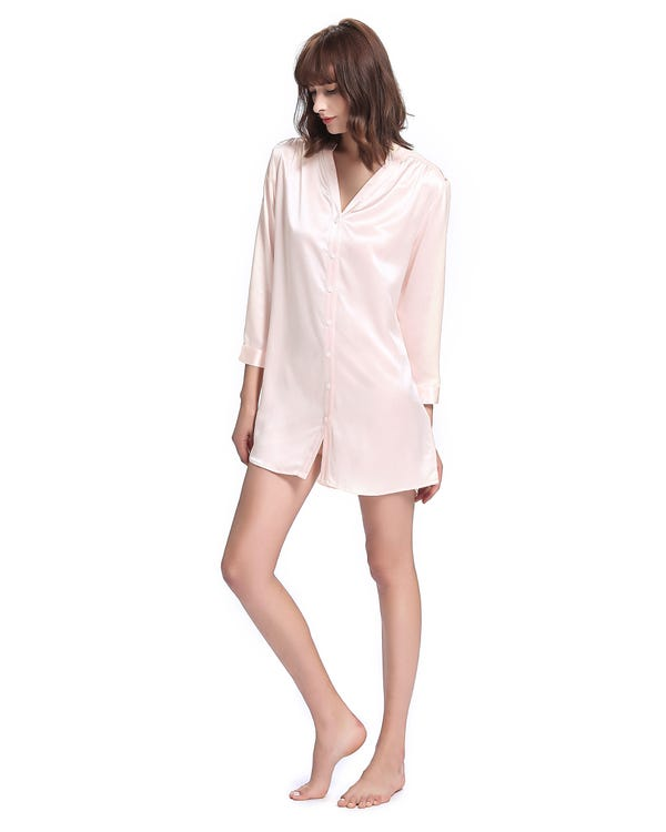 22 Momme Elegant Women Silk Nightshirt