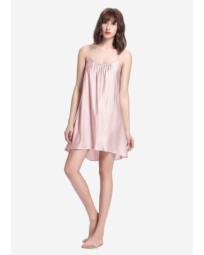 22 Momme Sexy Irregular Silk Nightgown