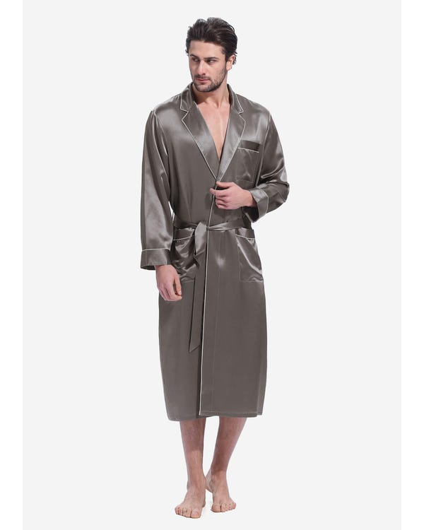 22 Momme Casual Long Silk Dressing Gown