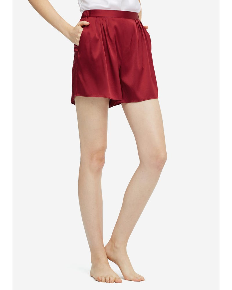 Womens Mulberry Silk Lounge Shorts