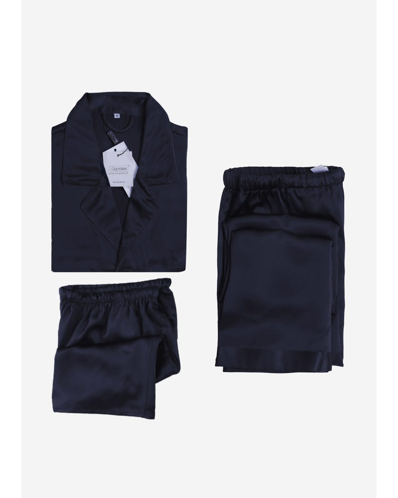 22 Momme Classic Silk Pyjamas Set 3pcs