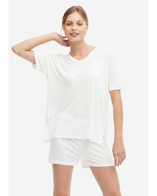 Loose Cozy Silk Lounge T-shirt