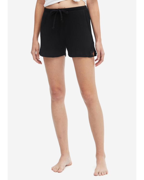 Casual Sleep Shorts For Women Black M
