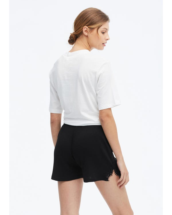 Casual Sleep Shorts For Women Black M-hover