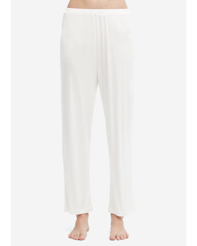 Comfortable Simple Style Silk Knitted Pants
