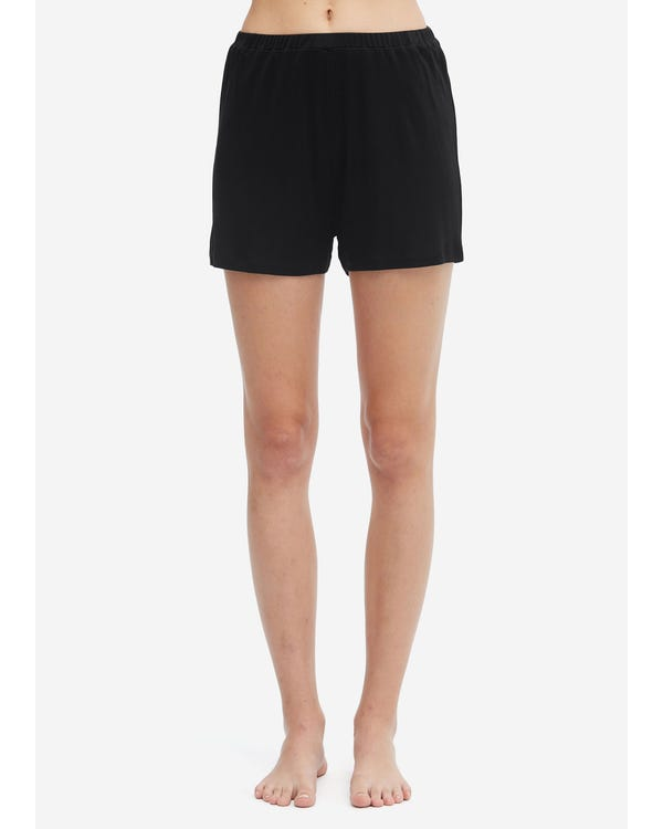 Casual Silk Lounge Shorts Black M
