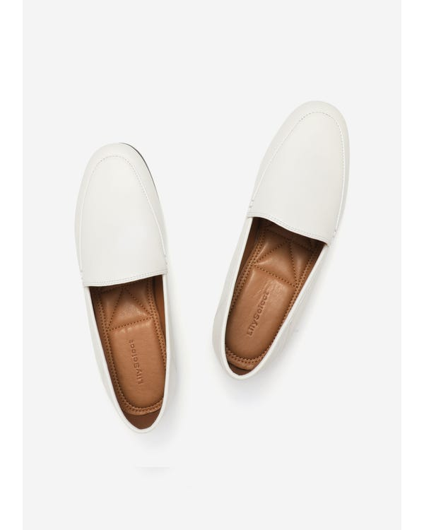 The Loafers natural-white-leather 85
