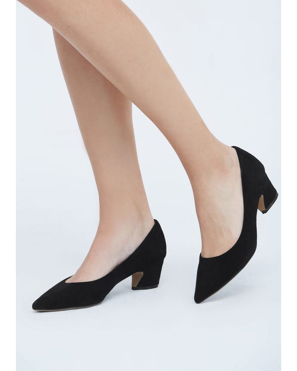 The Pumps Black-leather 85-hover