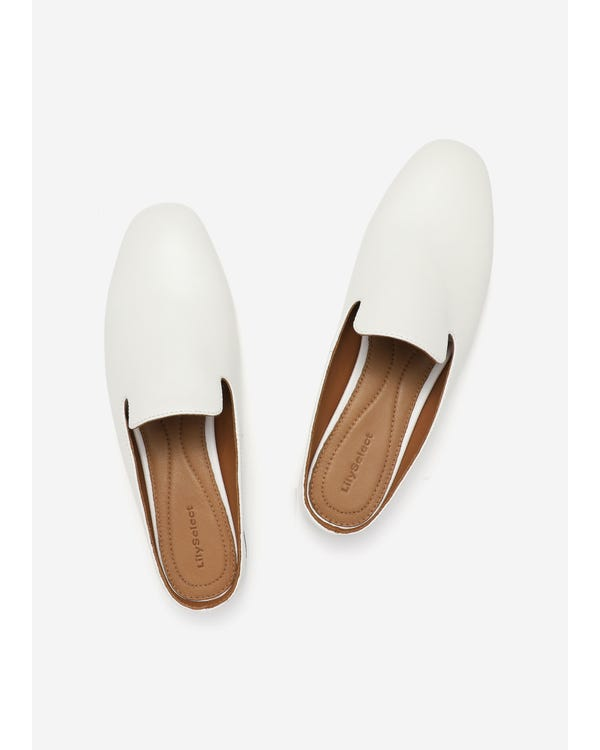 The Mules natural-white-leather 85