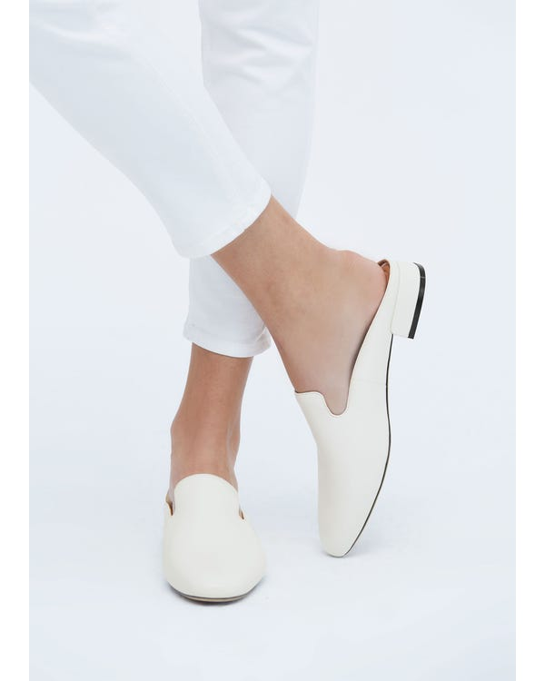 The Mules natural-white-leather 85-hover