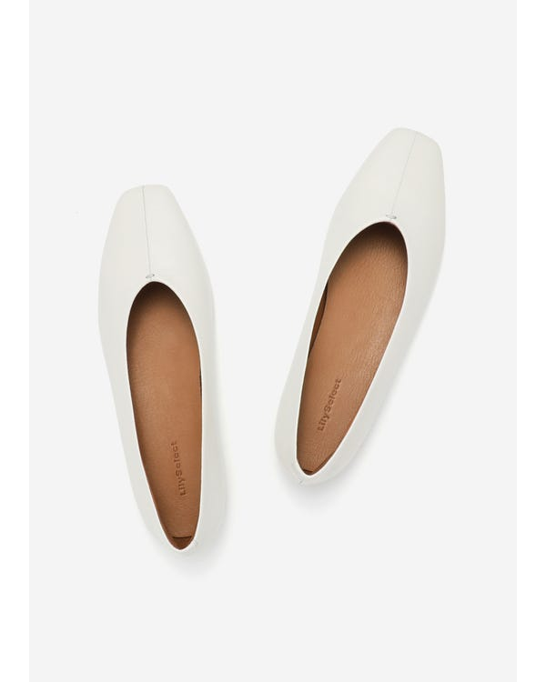 The Flats natural-white-leather 85