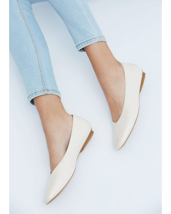 The Flats natural-white-leather 85-hover
