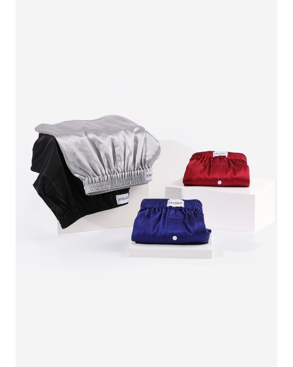 Luxury Fitted Draping Silk Boxer For Men 4 Pack-hover