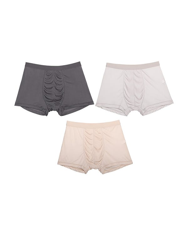 Men's 3 Pack Ultra Soft Comfy Silk Boxer none L