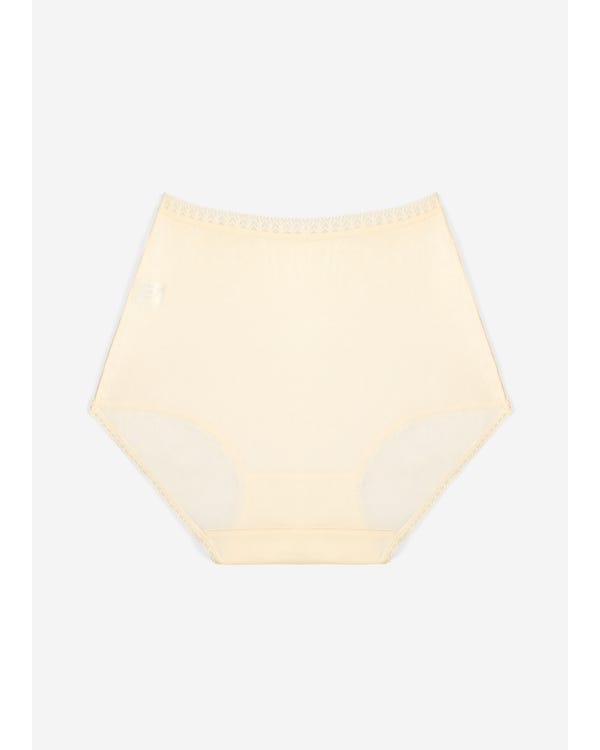 Comfortable Silk Knitted Panty With Lace Trim beige-w18 M-hover