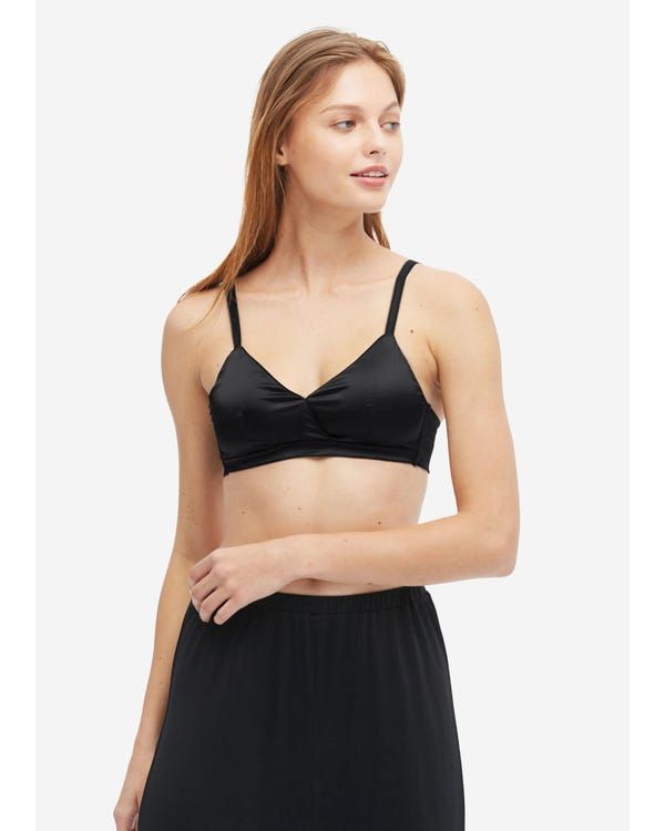 Concise Comfortable Silk Bralette