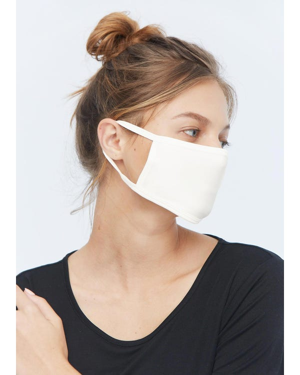 Breathable Face Mouth Silk Mask White 1-Pack